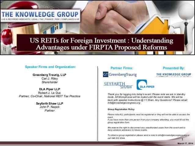 Speaker Firms and Organization: Greenberg Traurig, LLP Carl J. Riley Shareholder DLA Piper LLP Robert J. Le Duc Partner, C...