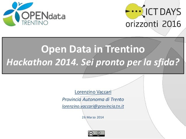 Open Data 4 Hackaton - Preparation for Hackaton Ict Days 2014 #opendata #ictdays #opengovernmentdata