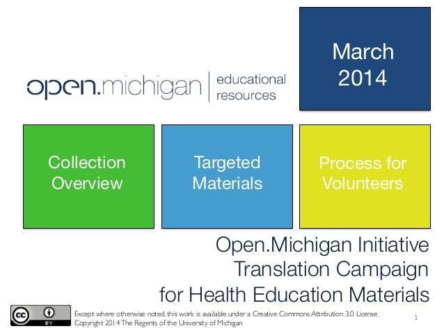 Open.Michigan - Translate-a-thon - Year 2