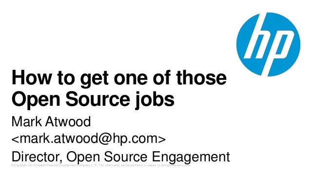 How to get one of those Open Source jobs