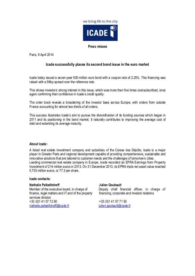 20140409 - PR - icade bond-issue_vuk