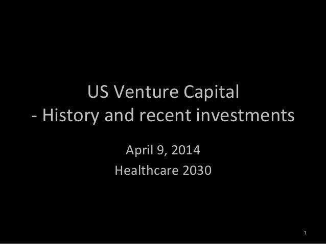 미국 벤처캐피탈의 약사 및 최근 바이오텍 투자의 특징