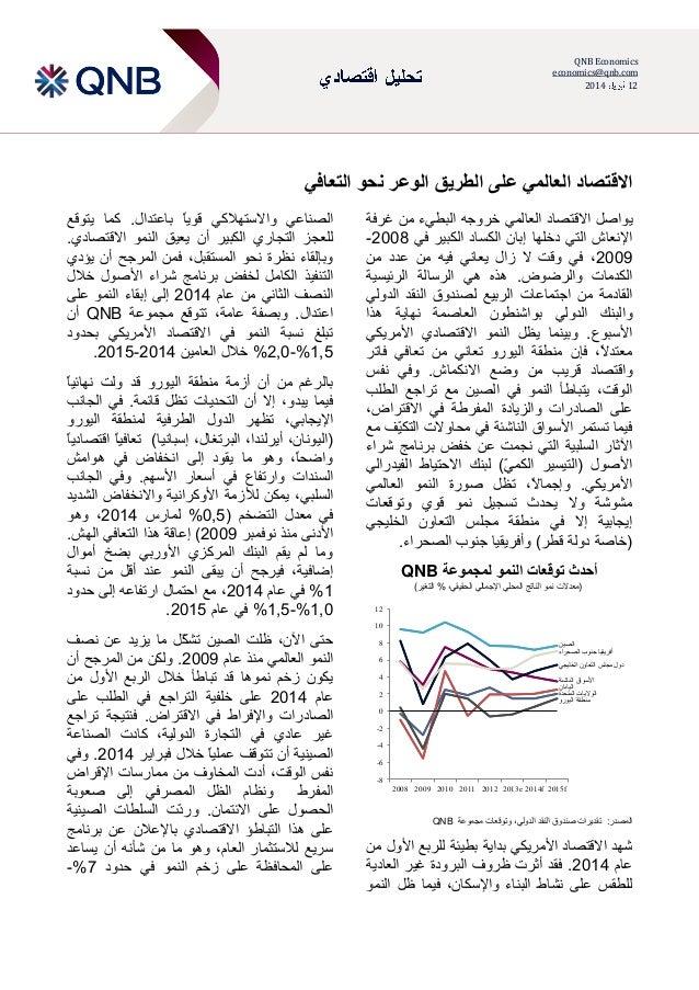 QNB Economics economics@qnb.com 211122 التعافي نحو الوعر الطريق على العالمي االقتصاد يال االقتصاد واص...