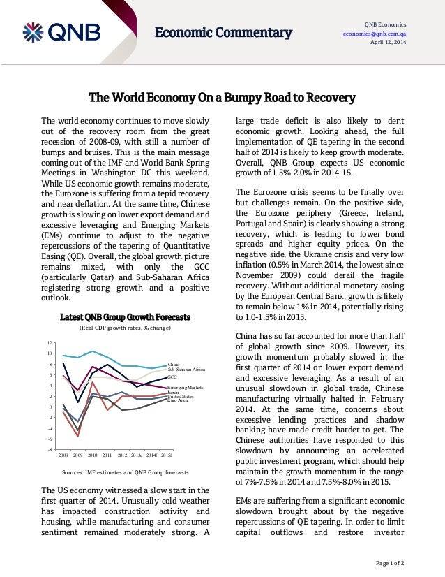 Page 1 of 2 Economic Commentary QNB Economics economics@qnb.com.qa April 12, 2014 -8 -6 -4 -2 0 2 4 6 8 10 12 2008 2009 20...
