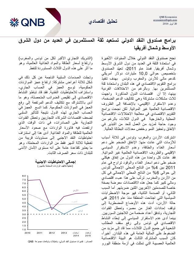 اقتصادي تحليل QNB Economics economics@qnb.com 02يلرأب0202 الشرق دول من العديد في المستثمرين ثقة ت...