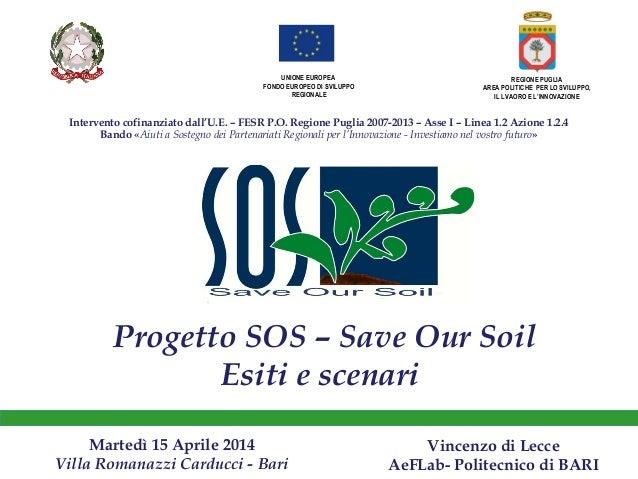 SOS Vincenzo di Lecce AeFLab- Politecnico di BARI 15/04/2014