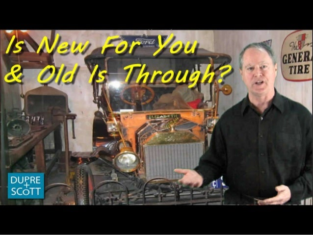 Is new for you and old is through?