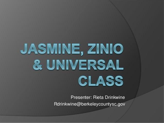 Presenter: Rieta Drinkwine Rdrinkwine@berkeleycountysc.gov
