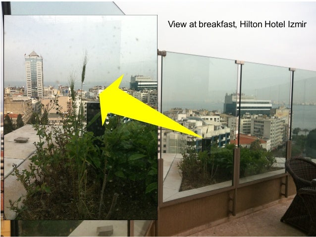 Monitoring -why? View at breakfast, Hilton Hotel Izmir