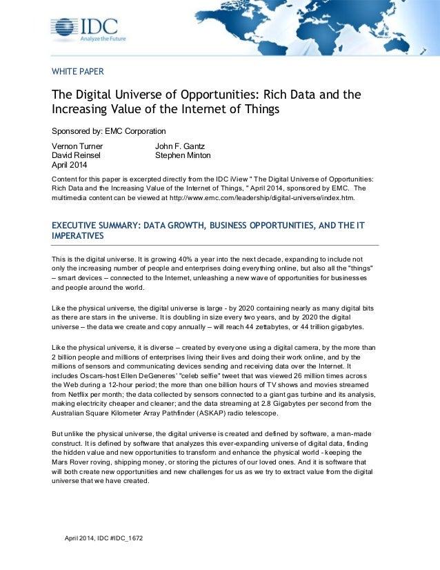 201404 White Paper Digital Universe 2014