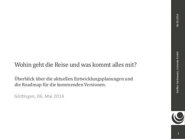 Steffen  Hankiewicz,  intranda  GmbH 06.05.2014  Wohin  geht  die  Reise  und  was  kommt  alles  mit?  Überblick  über  d...