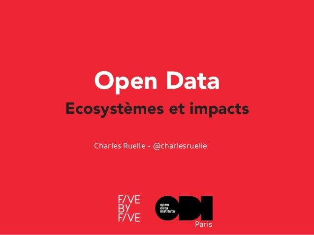 Open Data Ecosystèmes et impacts Charles Ruelle - @charlesruelle Paris