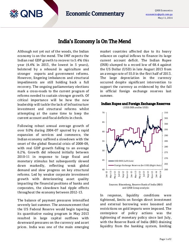India's Economy Is On The Mend