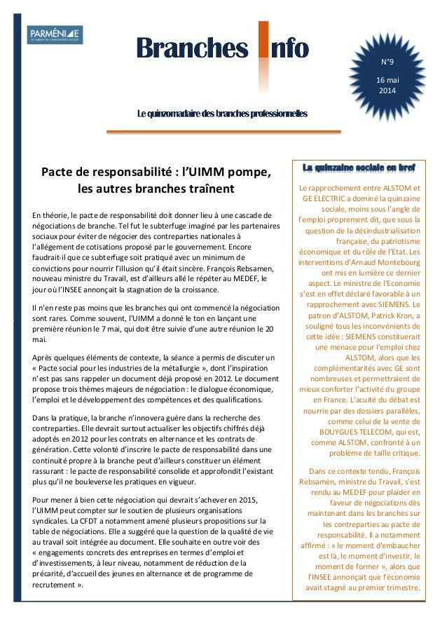1    BranchesInfoestunepublicationdeParménide Branches Info N°8 2mai2014 N°9   16  mai   2014   Le  rapprochem...