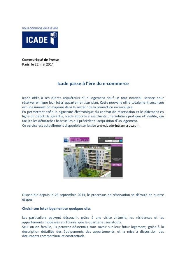 20140522 - CP - Icade reservation ligne