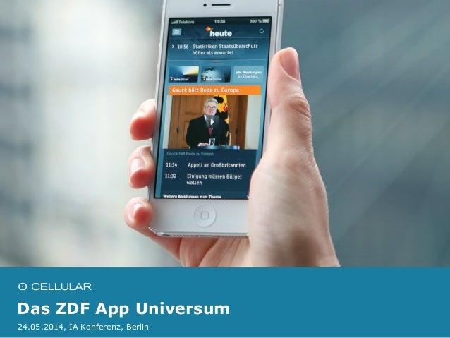 Das ZDF App Universum 24.05.2014, IA Konferenz, Berlin