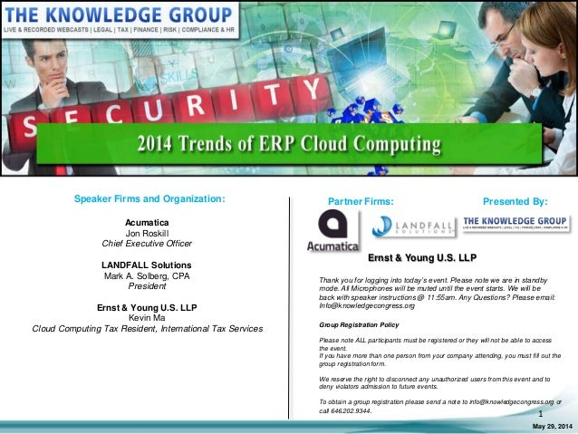 2014 Trends of ERP Cloud Computing LIVE Webcast
