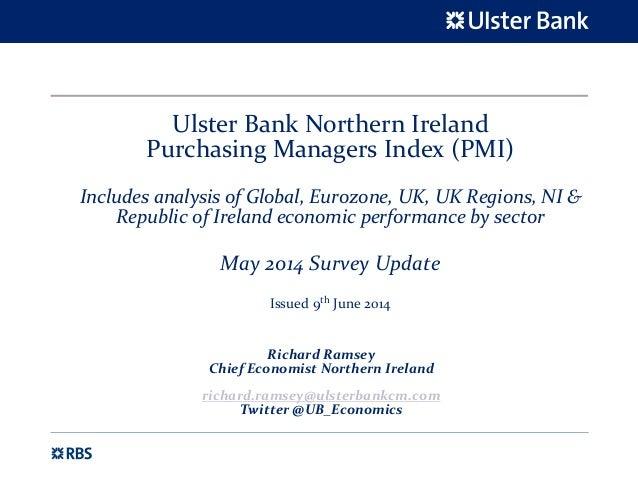 Slide Pack, Ulster Bank NI PMI, May 2014