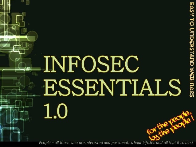 ISE - InfoSec Essentials .. an introduction