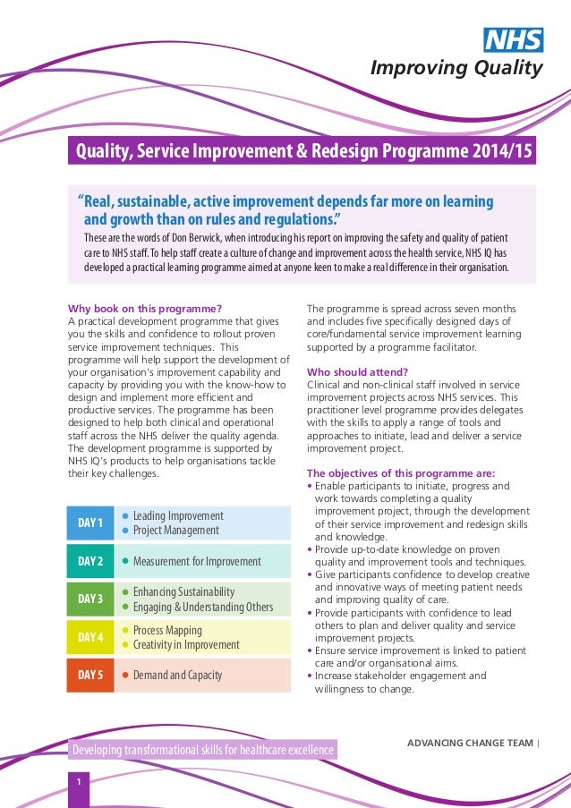 Why book on this programme? A practical development programme that gives you the skills and confidence to rollout proven s...