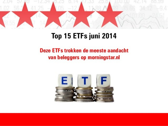 Top 15 ETFs in juni 2014