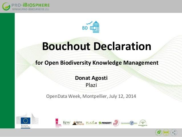Bouchout Declaration on Open Biodiversity Knowledge Management, Montpellier July 11, RMLL 2014, French version