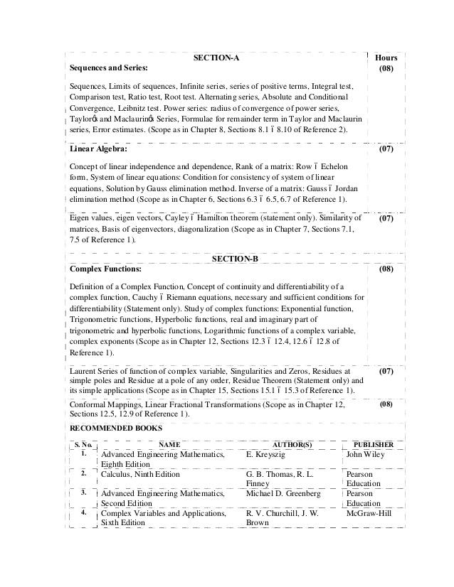 Panjab University UIET IT Syllabus 2014-15