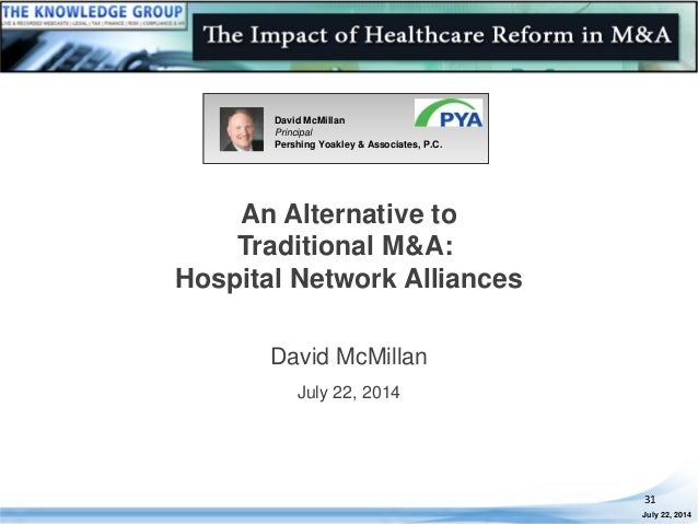 An Alternative to Traditional M&A: Hospital Network Alliances