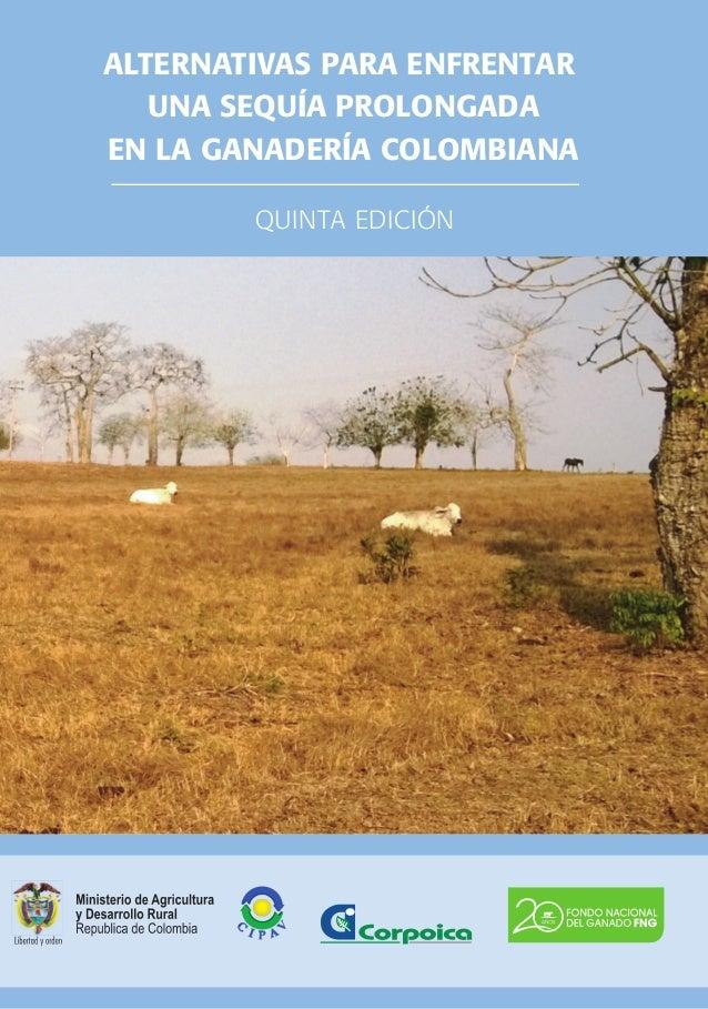 Alternativas para enfrentar una sequía prolongada