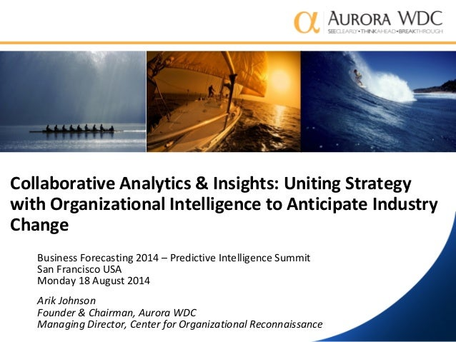 Collaborative Analytics and Insights: Uniting Strategy with Organizational Intelligence to Anticipate Industry Change