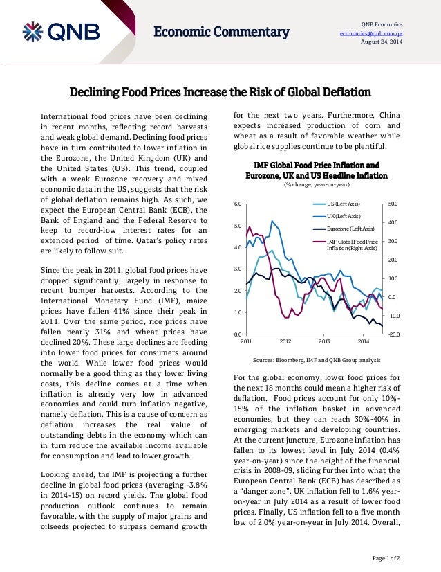Declining Food Prices