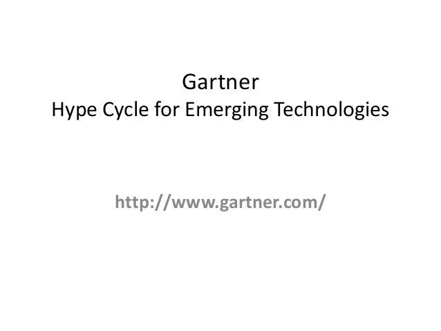 GartnerHype Cycle for Emerging Technologies  http://www.gartner.com/