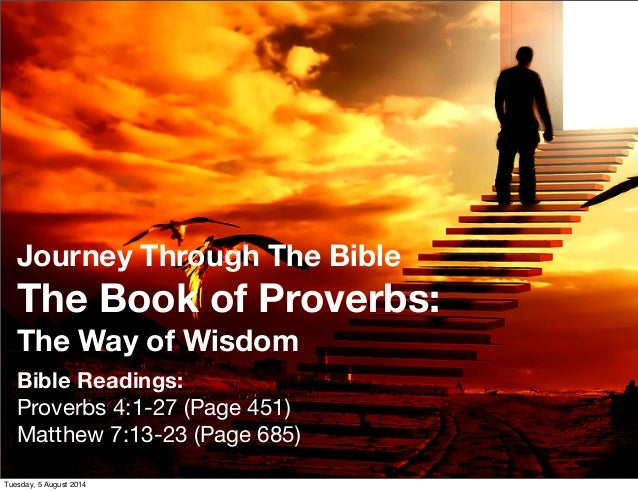 Journey through the Bible: the Book of Proverbs