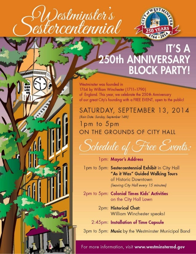Celebrate the 250th Anniversary of Westminster!