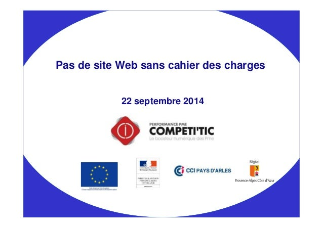 Pas de site Web sans cahier des charges  22 septembre 2014