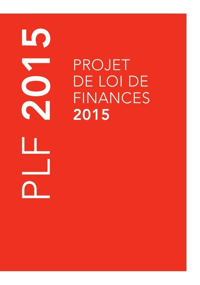 PLF 2015  projet  de loi de  finances  2015  PLF 2015