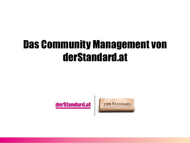 Das Community Management von derStandard.at