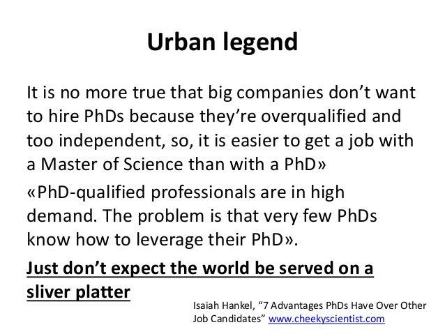Phd thesis urban legend