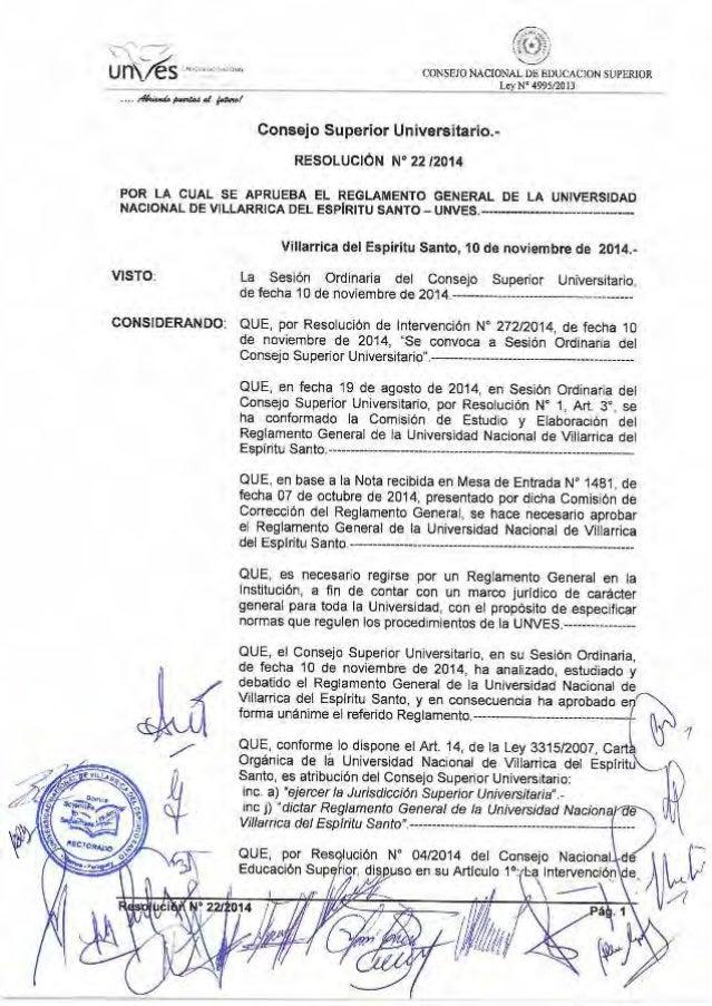 20141110 unves resol csu 22 reglamento general