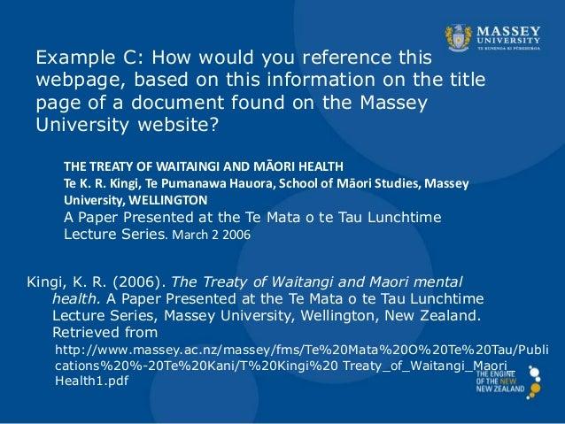 the treaty of waitangi essay