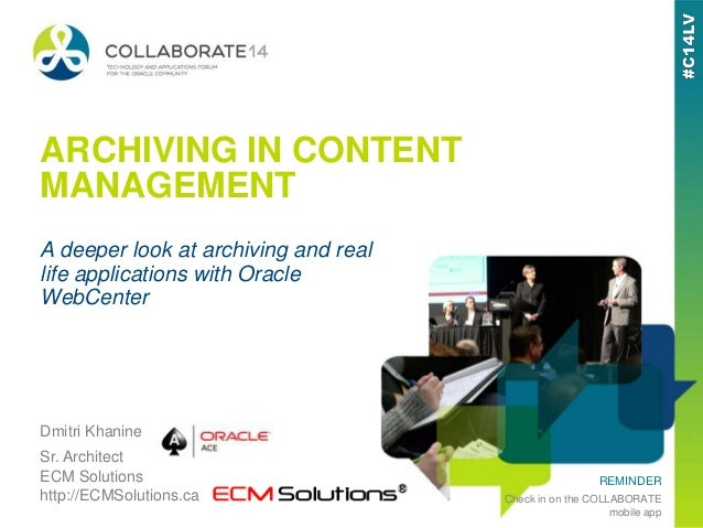 Archiving In Content Management - A Deeper Look