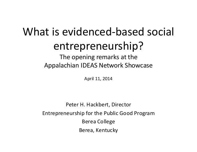 2014 Appalachian IDEAS Network Showcase