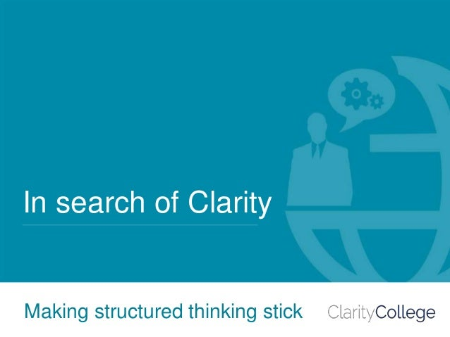 4 ideas to make structured thinking stick