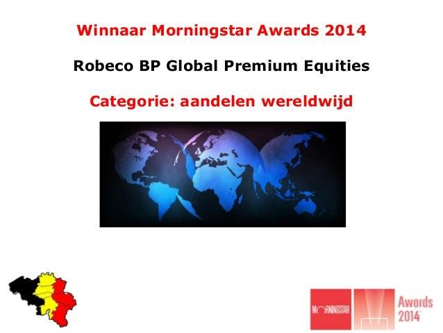 Winnaar Morningstar Awards 2014 categorie aandelen wereldwijd