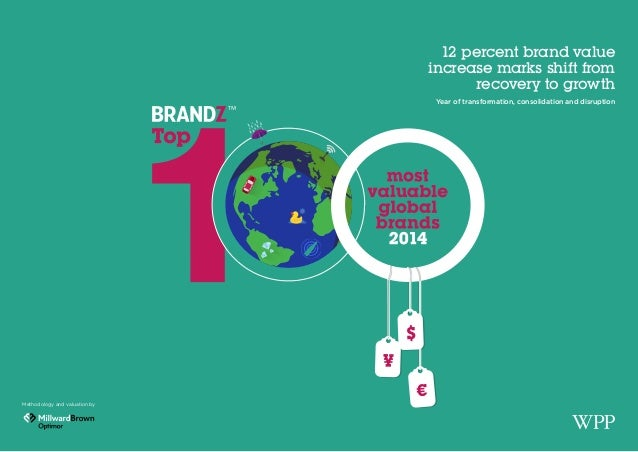100 Most Valuable Global Brands 2014