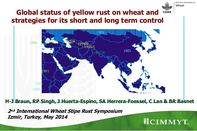 1986 1986 1991 1991 1992/3 1993/4 1997/8 1995/6 1994/5 1983 1985 2nd International Wheat Stipe Rust Symposium Izmir, Turke...