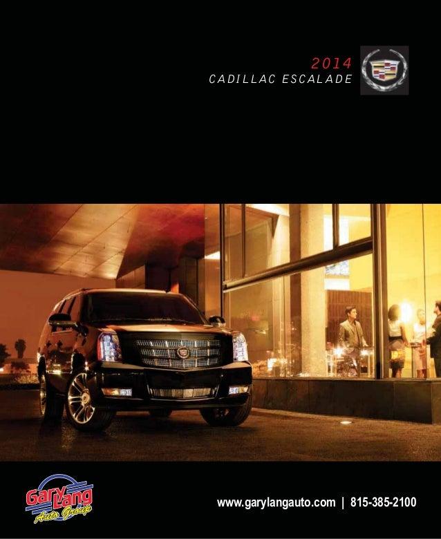 2014 Cadillac Escalade For Sale: 2014 Cadillac Escalade Brochure