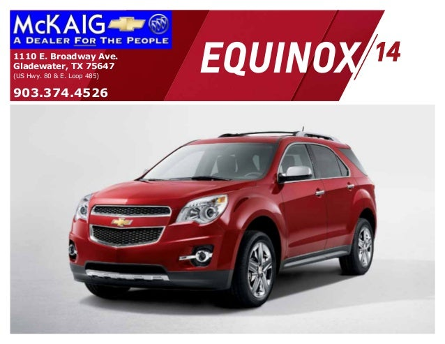 equinox1110 E. Broadway Ave. Gladewater, TX 75647 (US Hwy. 80 & E. Loop 485) 903.374.4526