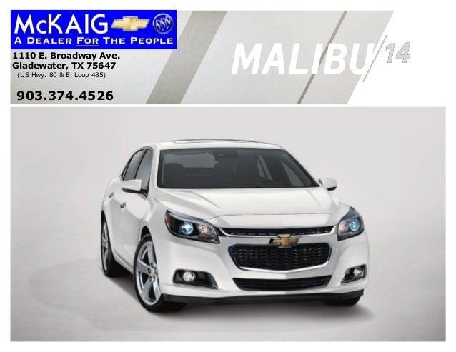 2014 Chevrolet Malibu Information Brochure McKaig Chevrolet Buick
