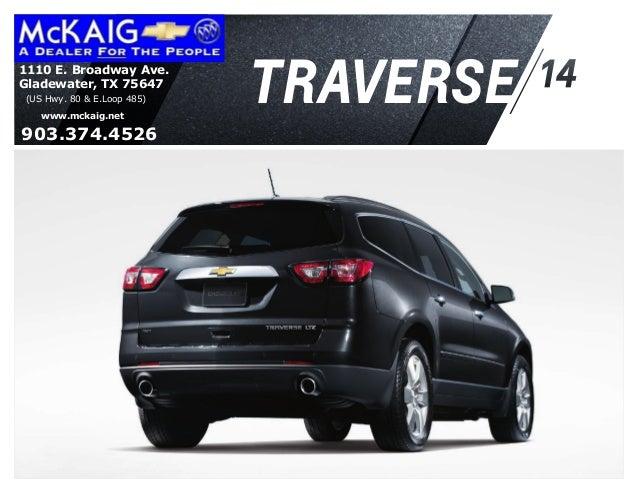 2014 Chevrolet Traverse Information Brochure McKaig Chevrolet Buick